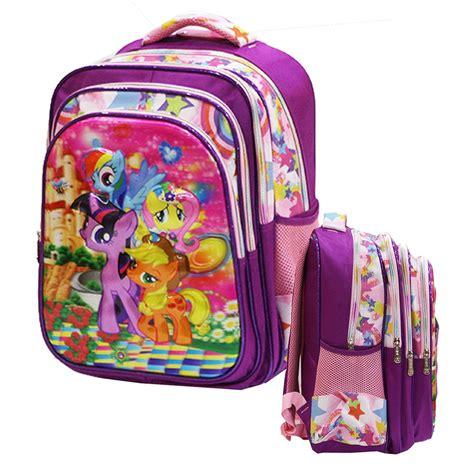 jual tas ransel anak sd my pony 5d ada 4 kantung import purple di lapak onlan shop