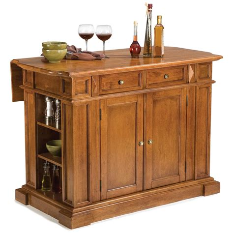home styles kitchen islands home styles cottage oak kitchen island with breakfast bar cottage oak 172166 kitchen