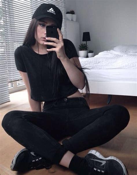 Jeans hat top black crop top adidas nike cap nike cap adidas cap black adidas cap ...