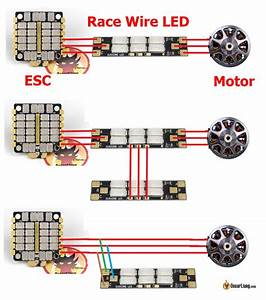 Motor Wire Led - Led Boards Powered By Esc  Motor