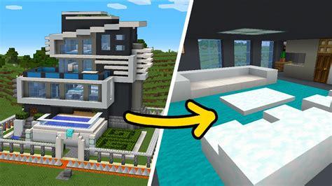 minecraft   build  safest modern house interior tutorial blogtubez