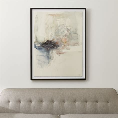 watercolor abstract art reviews crate  barrel