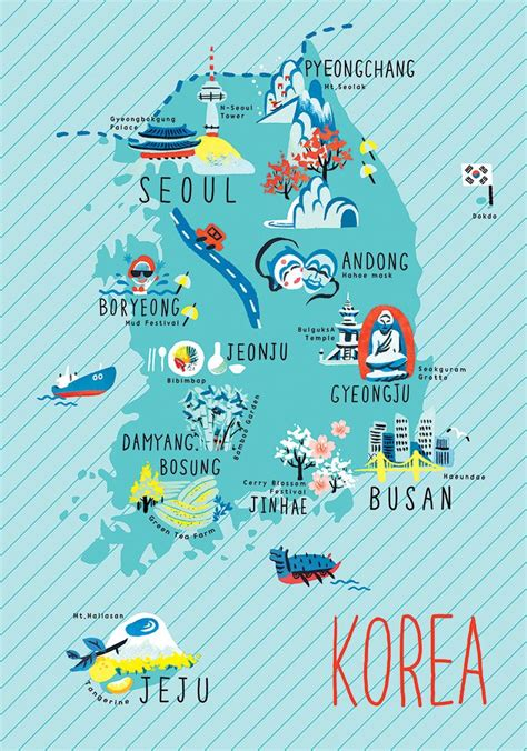 eunbi republic  korea map