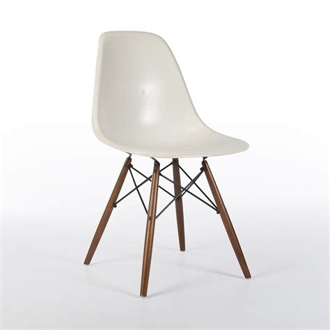 original white eames dsw side shell chair 61825