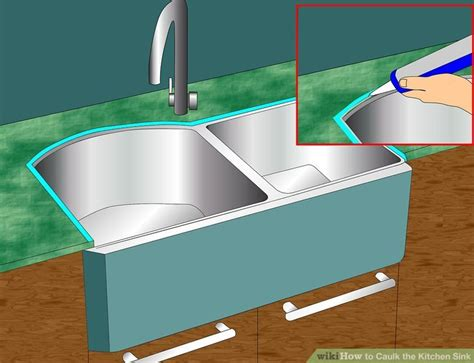 kitchen sink sealant how to caulk the kitchen sink with pictures wikihow 2871