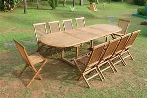 Mobilier Jardin Bois : mobilier jardin en teck ~ Premium-room.com Idées de Décoration