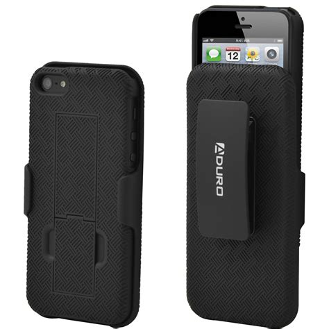 iphone 5 with belt clip aduro combo shell holster for iphone 5 5s ai5 cr01 hcs b h