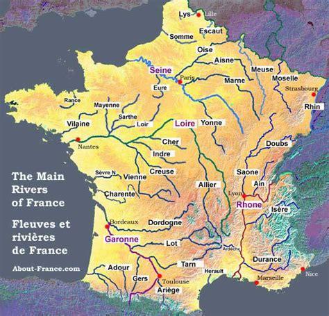 Carte De Avec Fleuves Et Rivières by Map Of The Rivers In About