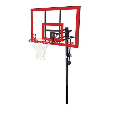 spalding inground basketball goal  exacta height