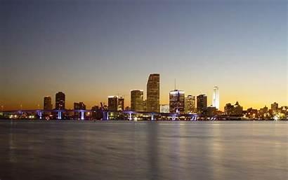 Miami Wallpapers Desktop Beach Backgrounds Skyline Fonds