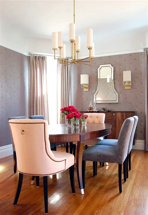 Modern Oval Dining Table Dining Room Transitional With