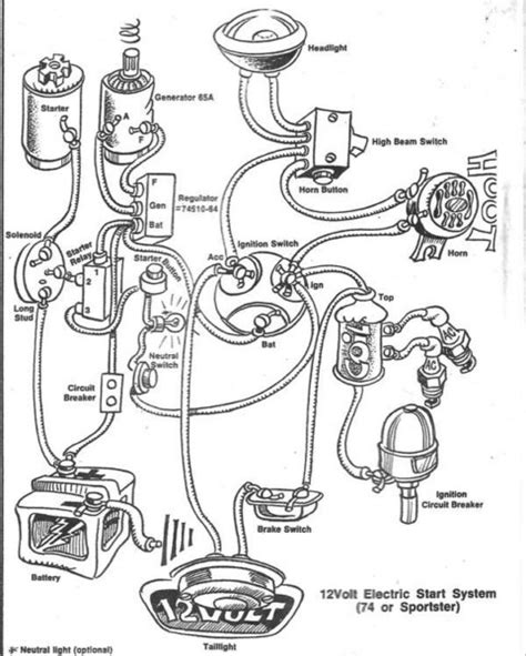 5 Pole Ignition Switch Wiring Diagram by Shovelhead Wiring Diagram