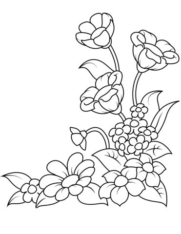 Spring Flowers coloring page | Free Printable Coloring Pages