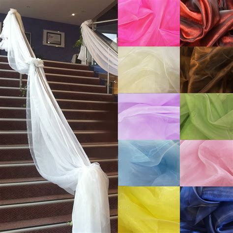 500cm 135cm sheer organza multi use wedding chair sash bow table runner swag decorations in