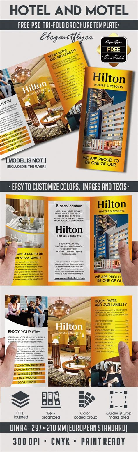 Free Hotel And Motel Tri Fold Psd Brochure By Elegantflyer Free Hotel And Motel Tri Fold Psd Brochure By Elegantflyer
