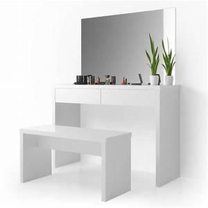Coiffeuse Moderne Avec Miroir : coiffeuse banc miroir cielterre commerce ~ Teatrodelosmanantiales.com Idées de Décoration