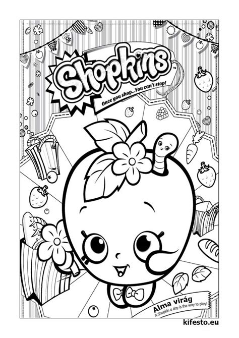 shopkins coloring pages  print shopkins logo black