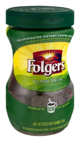 Disclaimer actual product packaging and materials may contain additional and/or different ingredient, nutritional, or proper usage information than the information displayed on our website. Folgers Classic Decaf Instant Coffee | Hy-Vee Aisles Online Grocery Shopping