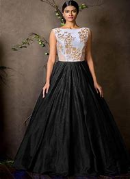 Black and White Designer Gowns