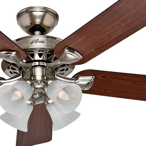 large ceiling fans with remote control hunter 52 traditional large room brushed nickel finish