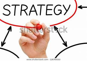 Male Hand Drawing Strategy Flow Chart Stock Photo  Edit