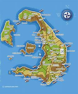 Maps of Santorini