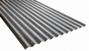 Plaque Ondulée Pour Toiture : plaque ondul e en acier galvanis l 200 cm l 90 cm ~ Premium-room.com Idées de Décoration