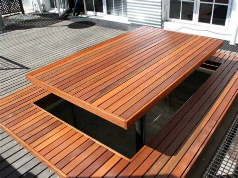 wooden deck   large wooden picnic table backyard pinterest wooden picnic tables