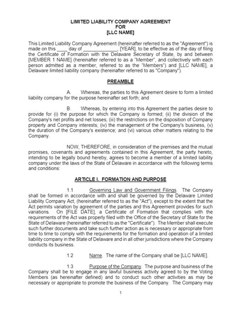 llc operating agreement archives incnow