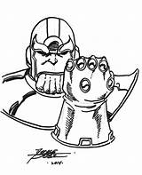 Coloring Infinity Gauntlet Pages Thanos Disney Drawing Huey Marvel Printable Boondocks Drawings 92kb 800px Comics sketch template
