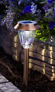 Moonrays hudson solar powered metal led path