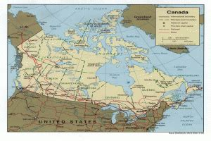 Ģeogrāfiskā karte - Kanāda - 1,050 x 1,030 Pikselis - 310 ...