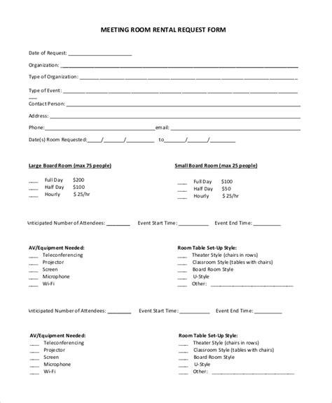 8 sle room rental agreements pdf word