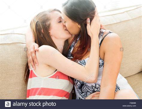 Lesbian couple kissing Stock Photo: 88071659 - Alamy