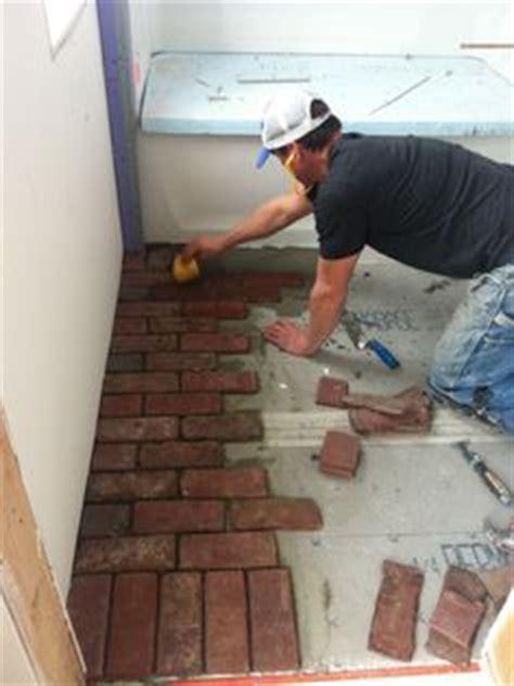 brick tile kitchen floor 1000 images about bathroom flooring that inspires on 4894