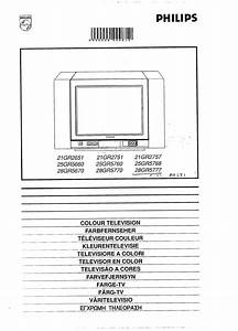 Philips Crt Television 25gr5660 User Guide