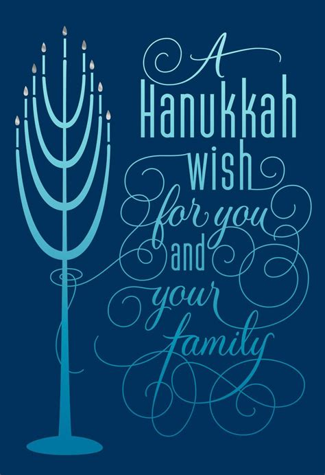 Menorah Lights Hanukkah Card  Greeting Cards Hallmark
