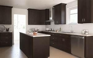 Dark Chocolate Shaker - Ready To Assemble Kitchen Cabinets