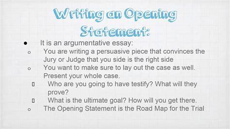 writing  opening statement youtube