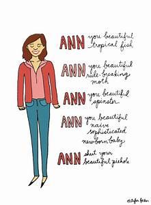 Ann, you beauti... Leslie Ann Quotes