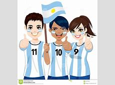 Argentinian Soccer Fans Stock Vector Image 40187932