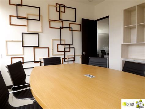 foto decoracion sala de juntas de inblatt arquitectura