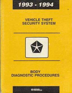 security system 1993 chrysler imperial security system 1993 1994 chrysler dodge plymouth jeep vehicle theft security system body diagnostic