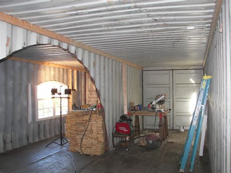 shipping container homes interior this started with just dirt what he did with it made
