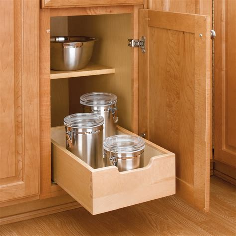 base cabinet pull out shelves wood pullout drawer 11 quot wide 4wdb 12 by rev a shelf