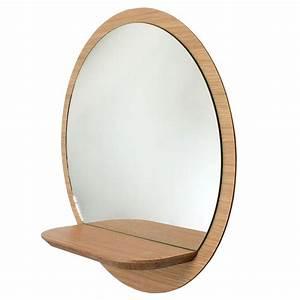 Rond En Bois : miroir rond bois avec tablette miroir tag re sunrise reine m re ~ Teatrodelosmanantiales.com Idées de Décoration