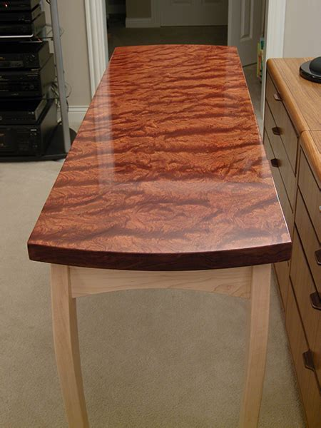 bubinga sofa table woodworking blog  plans