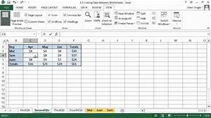 Microsoft Office Excel 2013 Tutorial  Linking Data Between