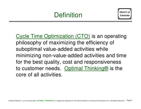 Website Optimization Definition by Cycle Time Optimization
