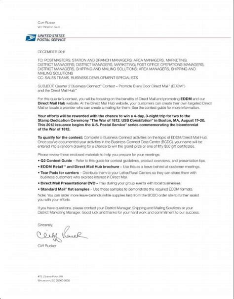 cover letter exle cover letter exles for usps